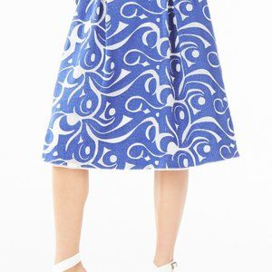 BCBGMaxAzria Jezebel Blue and White Skirt